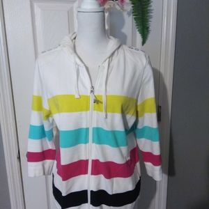 ONQUE CASUAL STRIPED HOOD JACKET